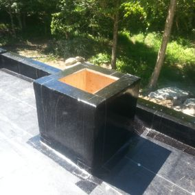 top view of a repaired roof
